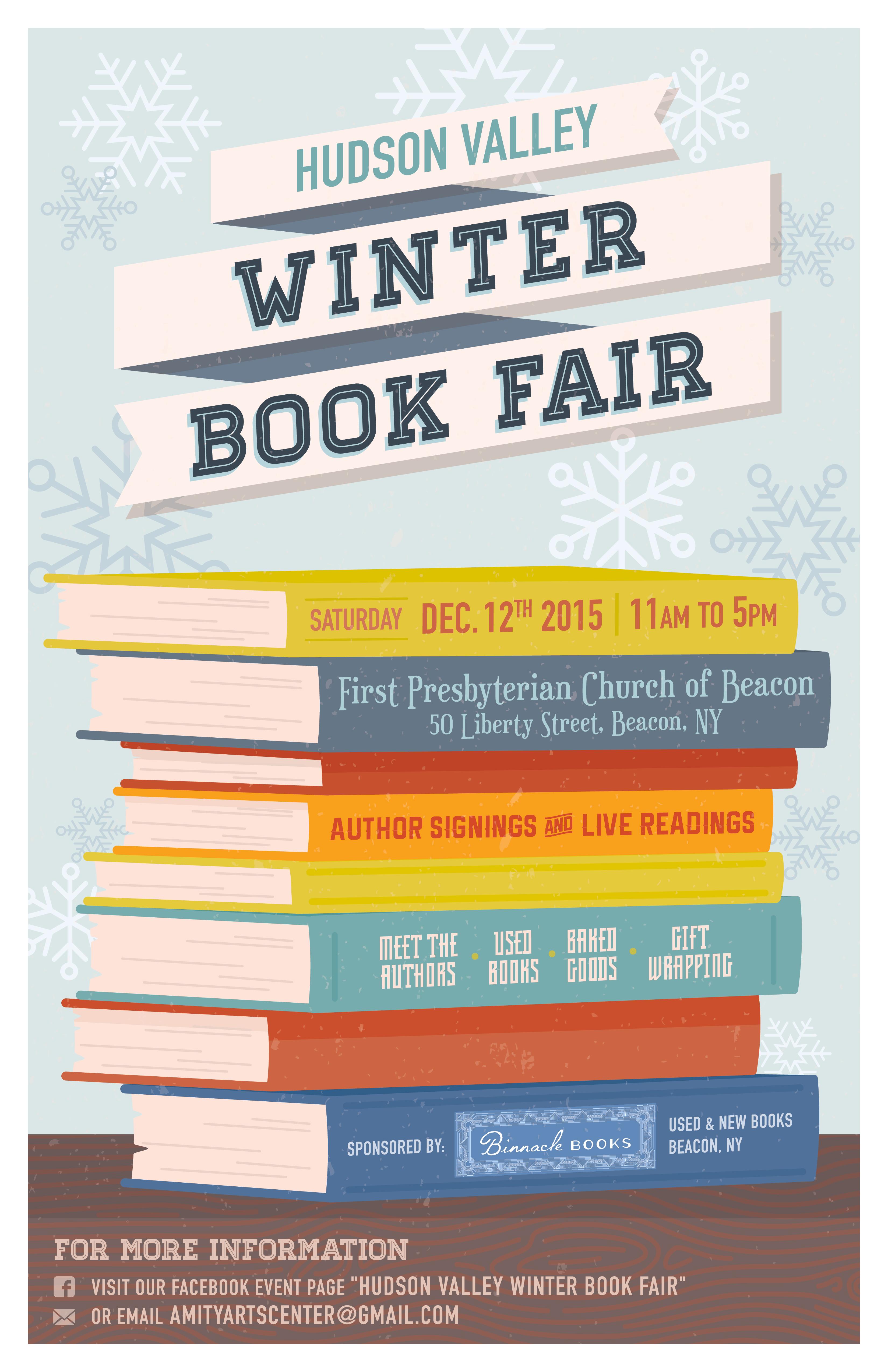 Hudson Valley Winter Book Fair Poster FINAL
